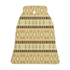 Fancy Tribal Border Pattern Beige Ornament (bell)