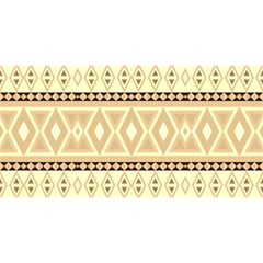Fancy Tribal Border Pattern Beige You Are Invited 3d Greeting Card (8x4)
