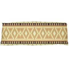 Fancy Tribal Border Pattern Beige Body Pillow Cases Dakimakura (two Sides)