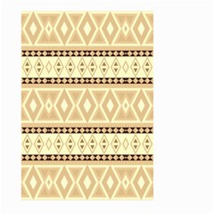 Fancy Tribal Border Pattern Beige Large Garden Flag (two Sides)
