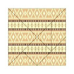 Fancy Tribal Border Pattern Beige Acrylic Tangram Puzzle (6  X 6 )