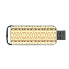 Fancy Tribal Border Pattern Beige Portable Usb Flash (two Sides)