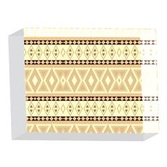 Fancy Tribal Border Pattern Beige 5 x 7  Acrylic Photo Blocks
