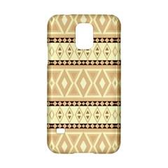 Fancy Tribal Border Pattern Beige Samsung Galaxy S5 Hardshell Case