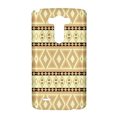 Fancy Tribal Border Pattern Beige LG G3 Hardshell Case