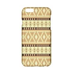 Fancy Tribal Border Pattern Beige Apple Iphone 6 Hardshell Case