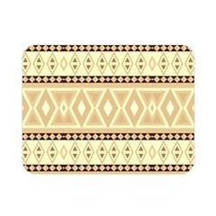 Fancy Tribal Border Pattern Beige Double Sided Flano Blanket (Mini)