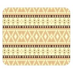 Fancy Tribal Border Pattern Beige Double Sided Flano Blanket (small)