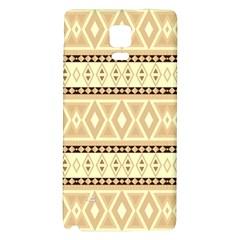Fancy Tribal Border Pattern Beige Galaxy Note 4 Back Case
