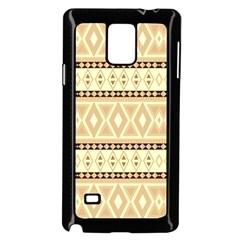 Fancy Tribal Border Pattern Beige Samsung Galaxy Note 4 Case (Black)