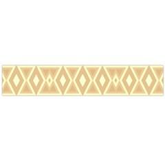 Fancy Tribal Border Pattern Beige Flano Scarf (large)