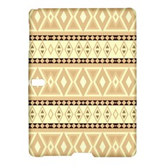 Fancy Tribal Border Pattern Beige Samsung Galaxy Tab S (10 5 ) Hardshell Case