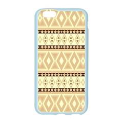 Fancy Tribal Border Pattern Beige Apple Seamless iPhone 6 Case (Color)