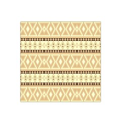 Fancy Tribal Border Pattern Beige Satin Bandana Scarf
