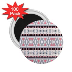 Fancy Tribal Border Pattern Soft 2 25  Magnets (100 Pack)