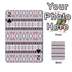 Fancy Tribal Border Pattern Soft Playing Cards 54 Designs
