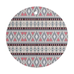 Fancy Tribal Border Pattern Soft Round Ornament (two Sides)