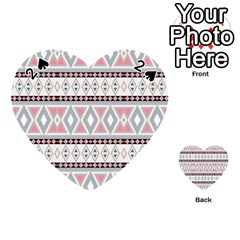 Fancy Tribal Border Pattern Soft Playing Cards 54 (Heart)