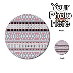 Fancy Tribal Border Pattern Soft Multi-purpose Cards (Round)