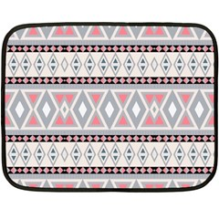 Fancy Tribal Border Pattern Soft Fleece Blanket (mini)