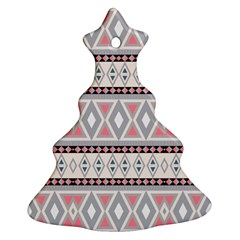 Fancy Tribal Border Pattern Soft Ornament (christmas Tree)