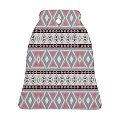 Fancy Tribal Border Pattern Soft Bell Ornament (2 Sides)