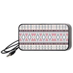 Fancy Tribal Border Pattern Soft Portable Speaker (Black)