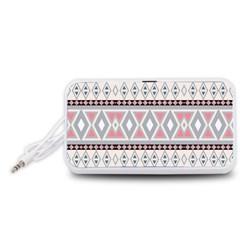 Fancy Tribal Border Pattern Soft Portable Speaker (White)