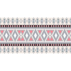 Fancy Tribal Border Pattern Soft YOU ARE INVITED 3D Greeting Card (8x4)