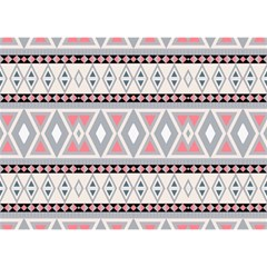 Fancy Tribal Border Pattern Soft Birthday Cake 3D Greeting Card (7x5)