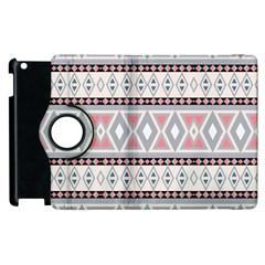 Fancy Tribal Border Pattern Soft Apple Ipad 2 Flip 360 Case