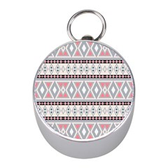 Fancy Tribal Border Pattern Soft Mini Silver Compasses