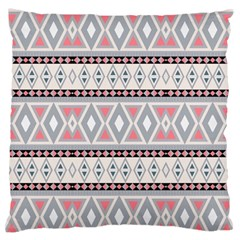 Fancy Tribal Border Pattern Soft Large Flano Cushion Cases (One Side)