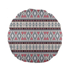 Fancy Tribal Border Pattern Soft Standard 15  Premium Flano Round Cushions