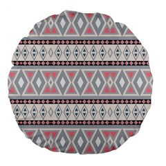 Fancy Tribal Border Pattern Soft Large 18  Premium Flano Round Cushions