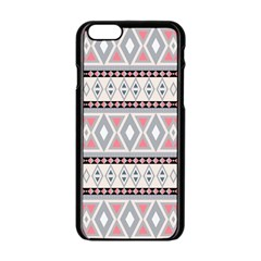 Fancy Tribal Border Pattern Soft Apple iPhone 6 Black Enamel Case