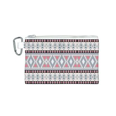 Fancy Tribal Border Pattern Soft Canvas Cosmetic Bag (S)