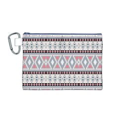 Fancy Tribal Border Pattern Soft Canvas Cosmetic Bag (M)