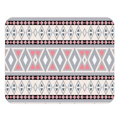 Fancy Tribal Border Pattern Soft Double Sided Flano Blanket (large)
