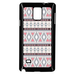 Fancy Tribal Border Pattern Soft Samsung Galaxy Note 4 Case (Black)