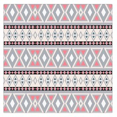 Fancy Tribal Border Pattern Soft Large Satin Scarf (Square)