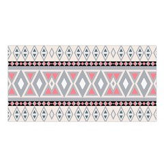 Fancy Tribal Border Pattern Soft Satin Shawl