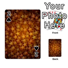 Gold Stars Playing Cards 54 Designs
