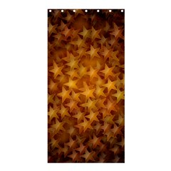 Gold Stars Shower Curtain 36  x 72  (Stall)