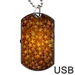 Gold Stars Dog Tag USB Flash (One Side)