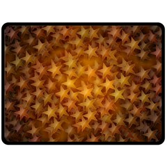 Gold Stars Double Sided Fleece Blanket (Large)