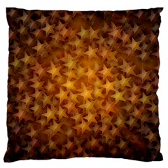 Gold Stars Large Flano Cushion Cases (One Side)