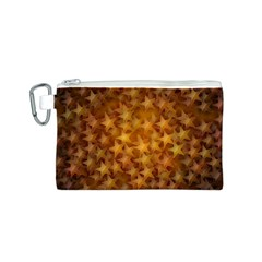 Gold Stars Canvas Cosmetic Bag (S)