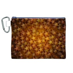 Gold Stars Canvas Cosmetic Bag (XL)