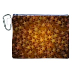 Gold Stars Canvas Cosmetic Bag (XXL)